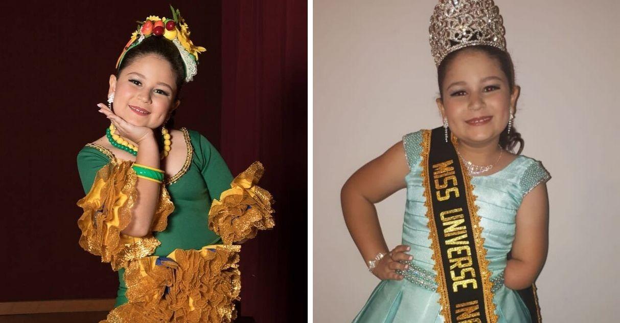 É do Brasil: única menina com deficiência vence Miss Universo Infanto Juvenil 4