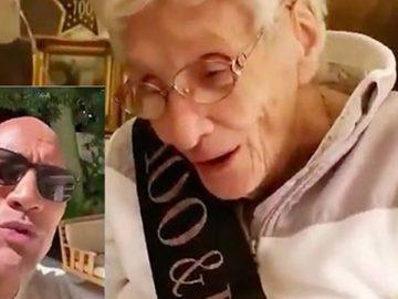 The Rock faz surpresa e canta parabéns pra vovozinha no seu aniversário de 100 anos 3