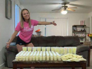 Mãe que perdeu filha doa mais de 100 litros de leite materno para outros bebês 1