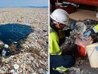 ONG história limpeza Grande Ilha de Lixo do Pacífico