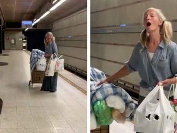 Mulher sem-teto filmada cantando música ópera e arrecada cem mil dólares