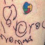 Mãe tatua primeiro desenho do filho autista no braço e simboliza vínculo entre os dois 2