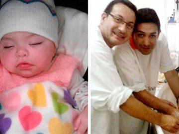 Casal gay adota bebê com HIV que foi rejeitada por 10 famílias 3