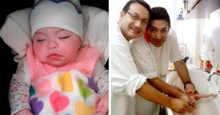 Casal gay adota bebê com HIV que foi rejeitada por 10 famílias 1