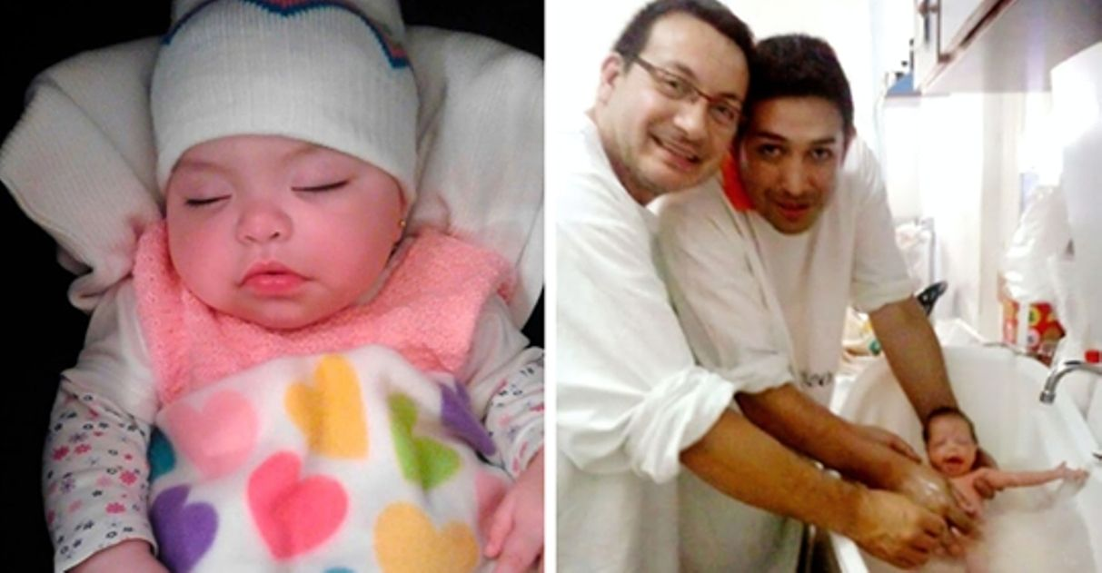 Casal gay adota bebê com HIV que foi rejeitada por 10 famílias 13