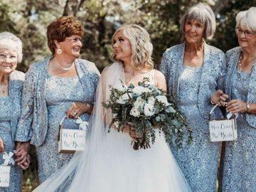 noiva convida avós para serem damas de honra em seu casamento