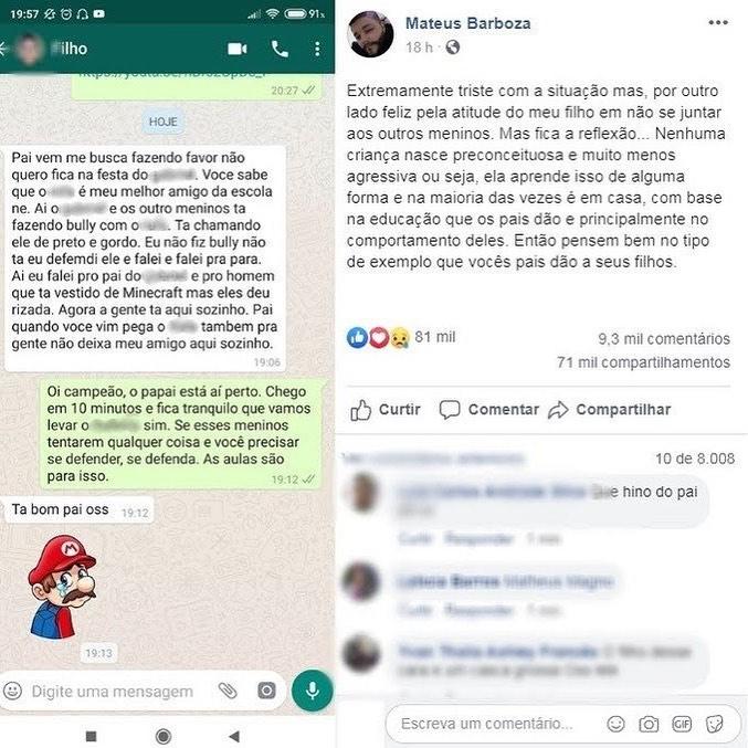 "Menino defende amigo negro de bullying e atitude viraliza: ""Defendi ele"" 2"