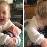 Em vídeo, menina de 3 anos se derrete de amor por sua irmã recém-nascida 1