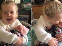 Em vídeo, menina de 3 anos se derrete de amor por sua irmã recém-nascida 2