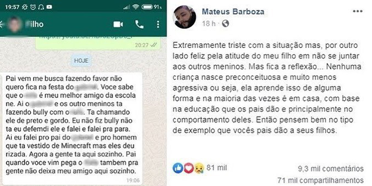 "Menino defende amigo negro de bullying e atitude viraliza: ""Defendi ele"" 3"