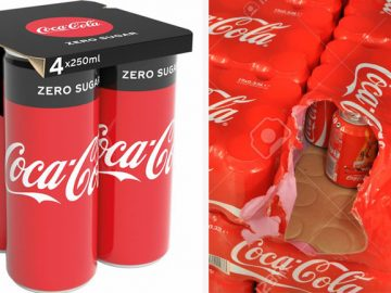 Coca-Cola substitui pack de plástico por de papel em suas latinhas na Europa 1