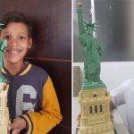 Autista brasileiro monta réplica da Estátua da Liberdade com 1685 peças de Lego! 4