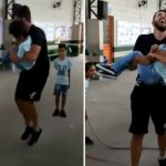 Professor pula corda com aluno cadeirante no colo e vídeo viraliza; assista! 4