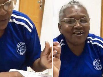 Idosa de 62 anos lê pela primeira vez e se emociona; veja vídeo 1