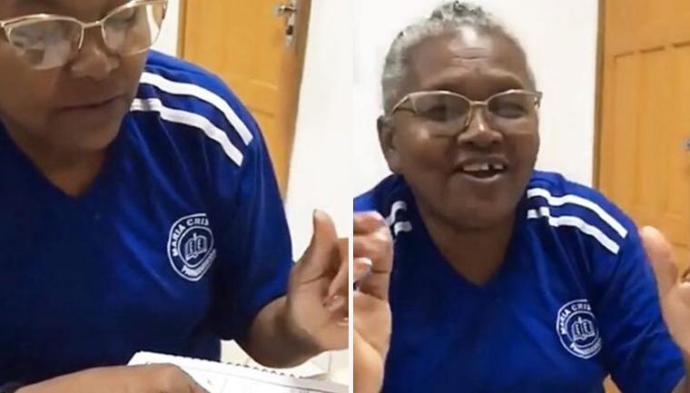 Idosa de 62 anos lê pela primeira vez e se emociona; veja vídeo 2