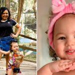 Menina de 2 anos ajuda pais deficientes visuais a caminhar e usar o celular 👼 1