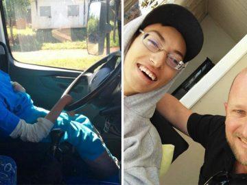 Caminhoneiros levam para passear garoto com paralisia cerebral amante de caminhões 3