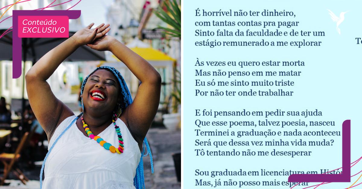 Professora desempregada faz currículo em forma de poesia na Bahia
