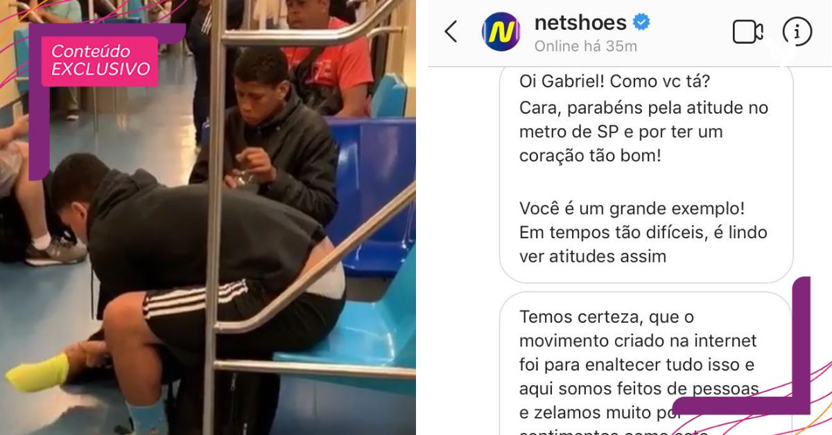 Após repercussão, jovem que deu o próprio tênis em metrô ganha calçados de grandes marcas
