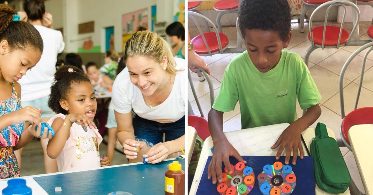 ONG de Fernanda Gentil oferece suporte pedagógico para crianças com dificuldades de aprendizagem