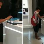 Após ser filmado estudando em tablet de loja, menino ganha aparelho da Samsung