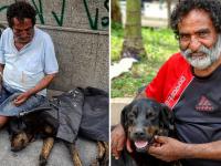 Bate meta da vaquinha para ajudar sem-teto e seu cachorro a saírem da rua