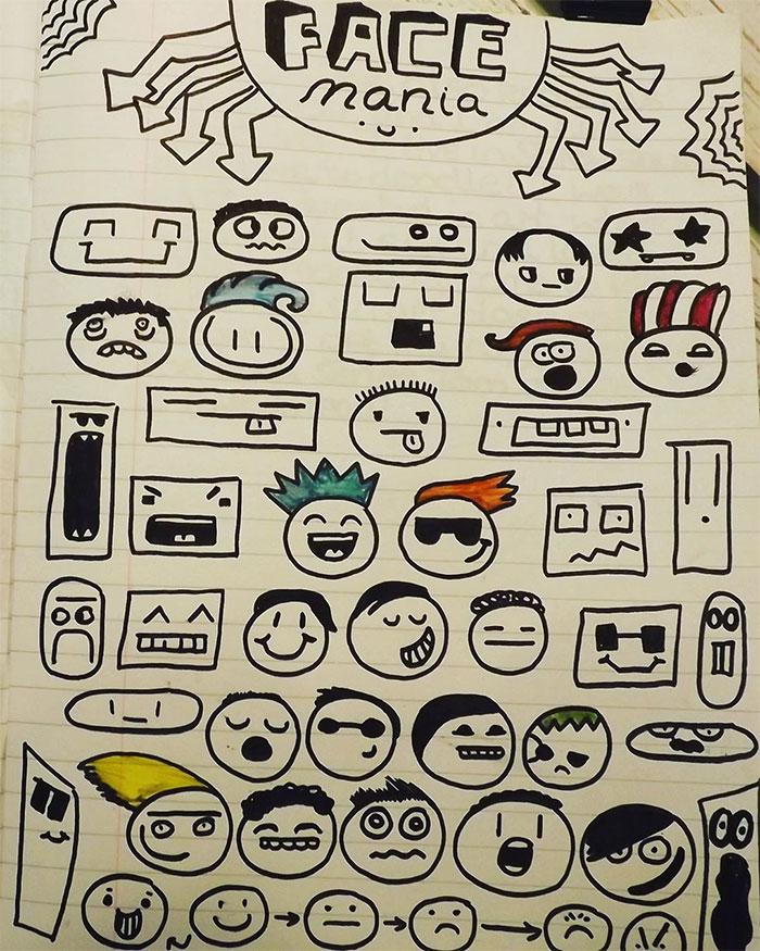 menino criticado por rabiscar cadernos decora restaurante desenhos