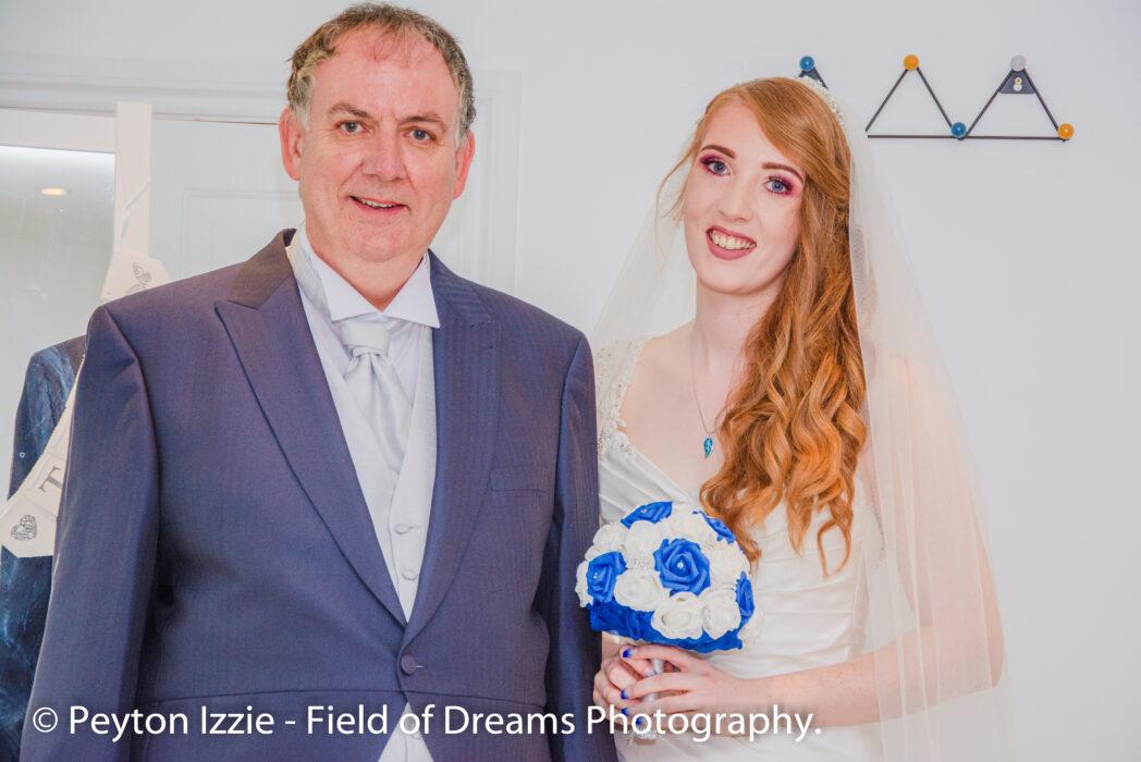 Pai autista casamento da filha chora de alegria