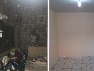 Voluntários reformam casa de família que adoecia por causa de condições precárias do imóvel 2