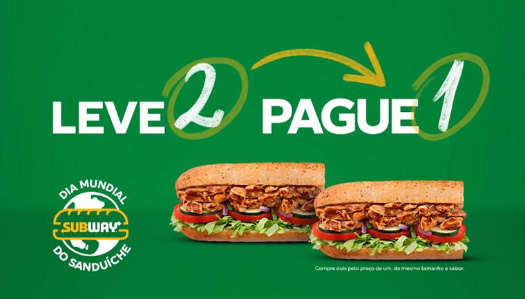 campanha do dia mundial do sanduíche na subway