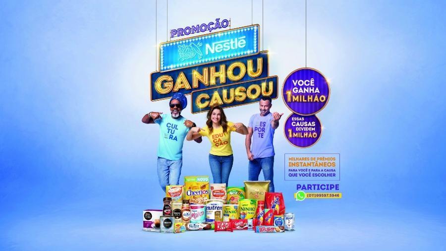 banner da promoção da Nestlé Ganhou, Causou