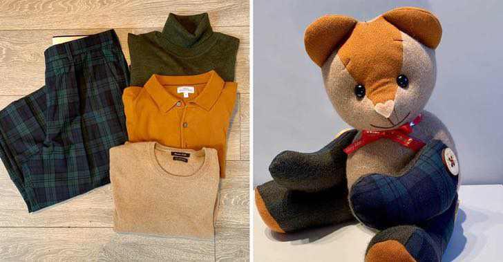 roupas de pessoas falecidas ursinhos de pelúcia
