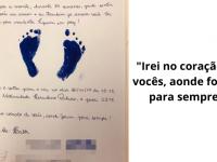 Enfermeira faz cartinha para consolar mãe que perdeu bebê:'Acalento pro coração' 4