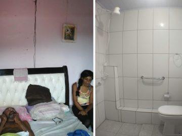 Projeto reforma casa e leva acessibilidade para casal de deficientes 1