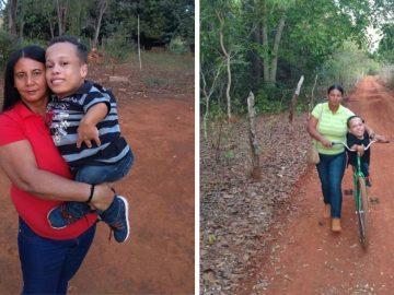 mãe pedala para realizar sonho do filho com nanismo