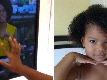Menina se identifica com Maju Coutinho na TV