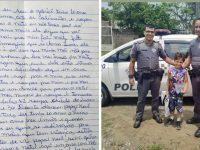 Menino pede comida em carta para o Papai Noel e sensibiliza PMs de SP