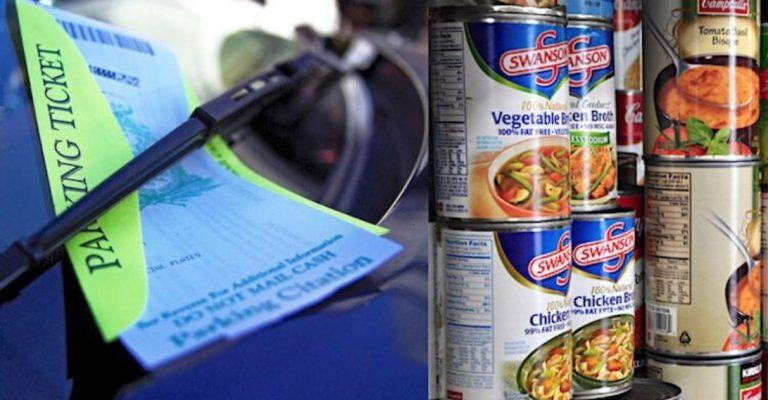 Polícia aceita pagamento de multas com doações de alimentos