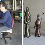 Artesão transforma garrafas PET que seriam descartadas em obras de arte 2