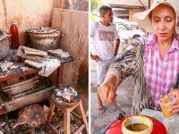 Dona de restaurante distribui caldos de graça após perder tudo em incêndio 4