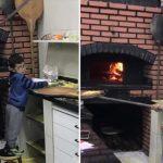 Pizzaria ensina garoto que estava chorando a fazer pizza para acalmá-lo 3