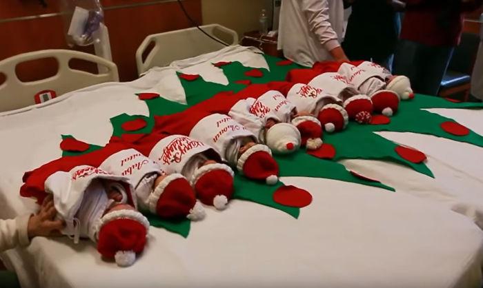 hospital tradição bebês meias natal