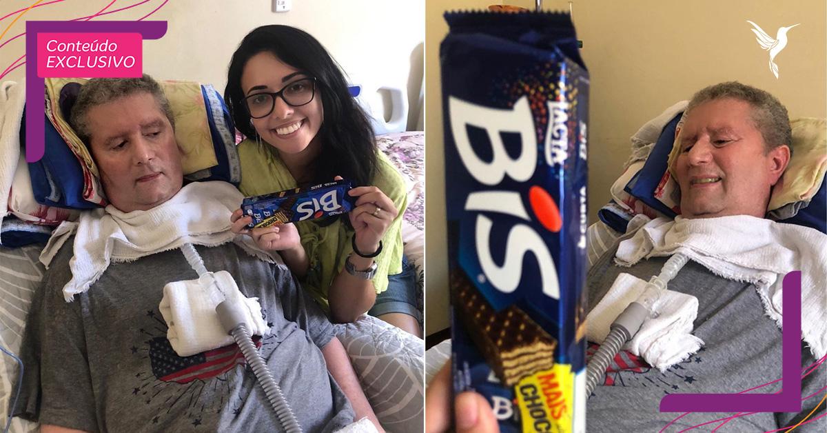 Paciente usa Código Morse para se comunicar e dá chocolates para todas as visitas 3