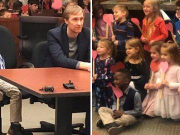 Menino de 5 anos convida amigos da escola para sua audiência de adoção 3