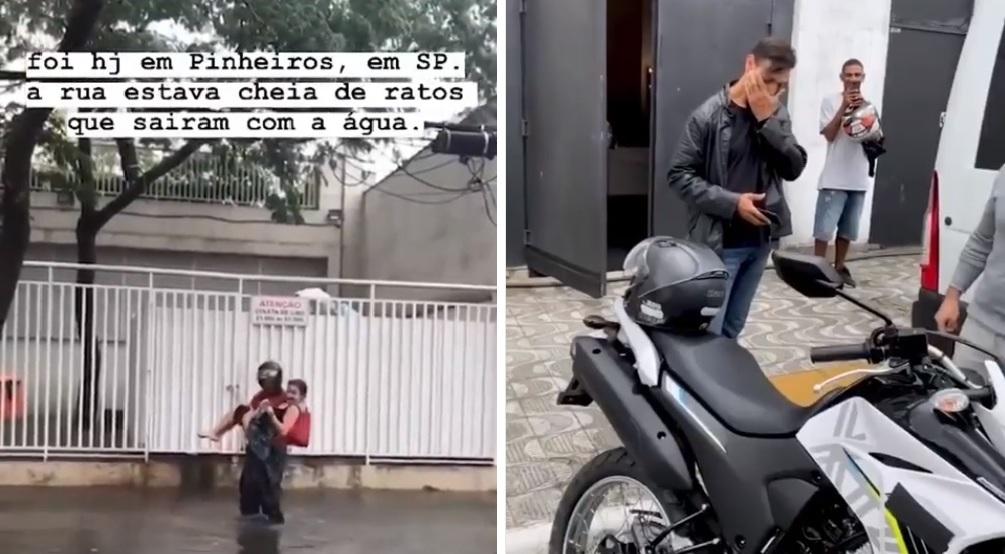 motoboy ganha moto nova gentileza chuva sp