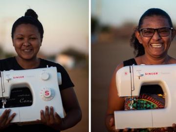 Mulheres do sertão baiano criam vaquinha para construir ateliê de costura