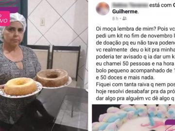 """Após ser humilhada por doar """"bolo pequeno demais"""", confeiteira recebe apoio de internautas 1"""