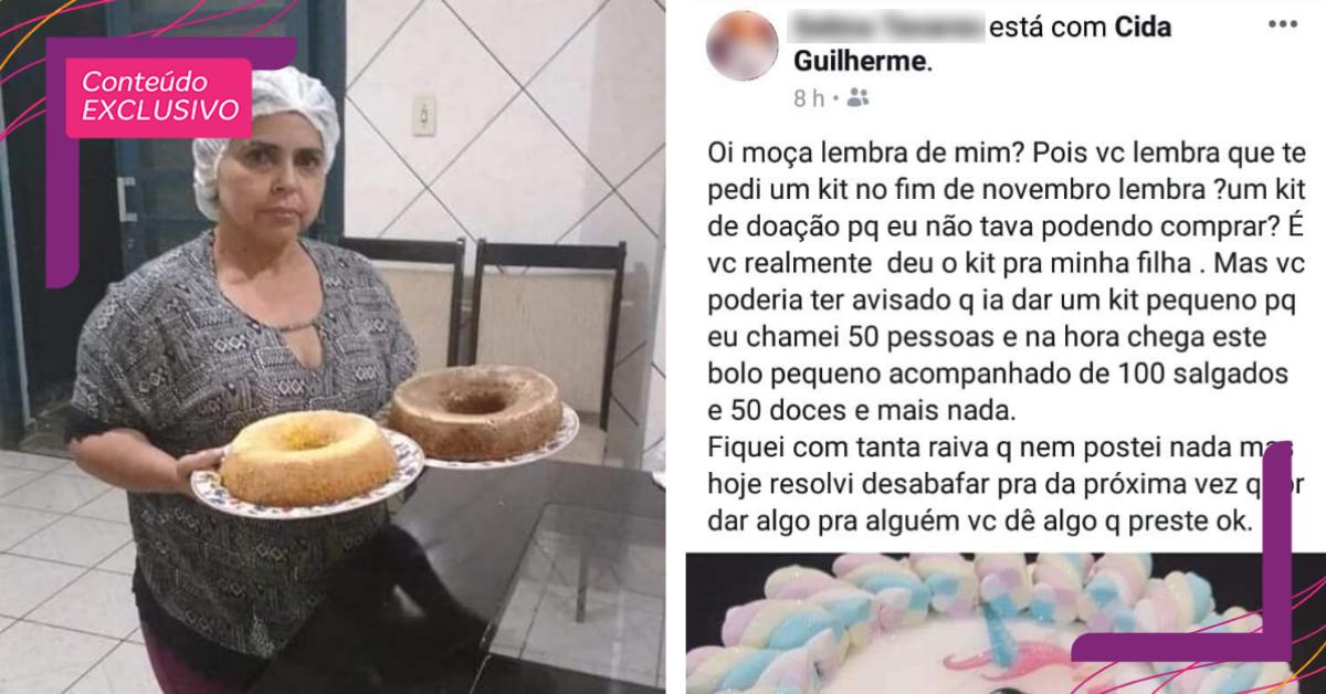 """Após ser humilhada por doar """"bolo pequeno demais"""", confeiteira recebe apoio de internautas 2"""