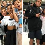 Torcedor realiza sonho de meninos que assistem partida de futebol pela primeira vez