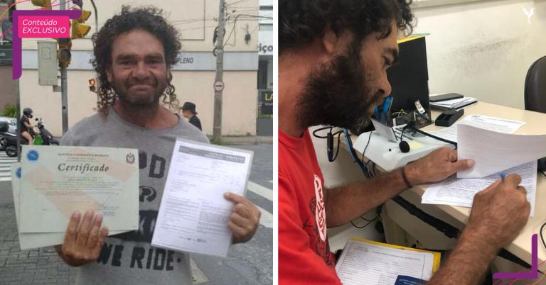 Homem em situação de rua que prestou Enem ganha emprego e bolsa de estudos em Direito